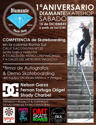 Diamante Skateshop 1er Aniversario